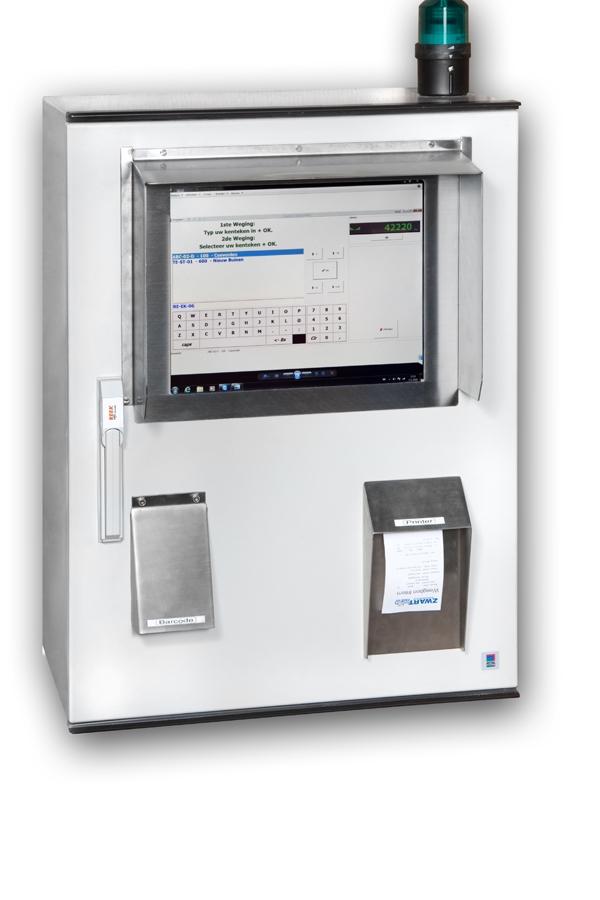 Reek buitenpost met UniWin, touchscreen, printer en barcode scanner
